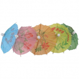 Fiesta Paper Parasols Mixed Colours (Pack of 144)