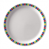Kristallon Fairground Melamine Dinner Plates 230mm (Pack of 12)