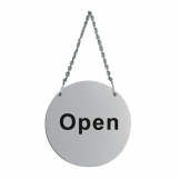 Stainless Steel Door Sign - Open and Closed