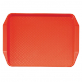 Cambro Polypropylene Handled Fast Food Tray Red 430mm