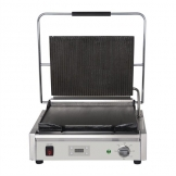 Buffalo Large Ribbed Top Contact Grill