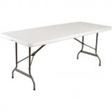 Bolero Rectangular Centre Folding Table 6ft White