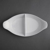 Olympia Divided Oval Eared Dishes 290x 160mm (Pack of 6)