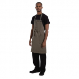 Chef Works Urban Dorset Antique Bib Apron Earth Brown