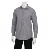 Chef Works Chambray Mens Long Sleeve Shirt Grey L