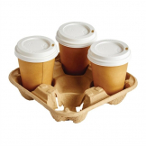 Disposable Cup Carry Trays 4 Cup
