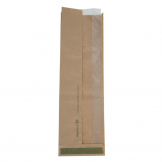 Vegware Compostable Kraft Baguette Bags With PLA Side Window