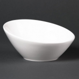 Lumina Fine China Oval Sloping Bowls 148mm (Pack of 6)