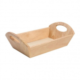 T&G Woodware Hevea Wood Bread Basket with Handles