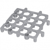 Vogue Pack of 2 Plastic Dunnage Floor Racks (335(W) x 335(D)mm)