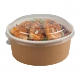 Colpac Recyclable Kraft Salad Pots With Lid Small 700ml / 24oz (Pack of 150)