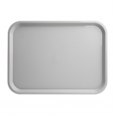Kristallon Medium Polypropylene Fast Food Tray Grey 415mm