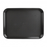 Kristallon Large Polypropylene Fast Food Tray Black 450mm