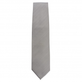 Chef Works Tie Silver and Black Fine Stripe