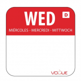 Dissolvable Food Rotation Labels Wednesday (Pack of 1000)