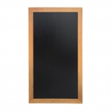Securit Slim Wall Mounted Blackboard 1000 x 560mm Teak