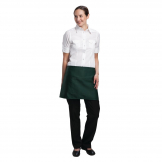 Chef Works Short Bistro Apron Green