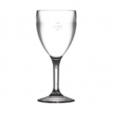 BBP Polycarbonate Wine Glasses 255ml CE Marked at 175ml (Pack of 12)