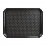 Kristallon Medium Polypropylene Fast Food Tray Black 415mm