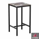 Extrema Driftwood Square Complete Bar Table