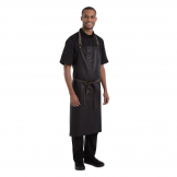 Chef Works Urban Wet Look Boulder Wide Bib Apron Brown and Black