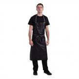 Chef Works Urban Wet Look Boulder Wide Bib Apron Purple and Black
