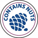 Contains Nuts Labels (Pack of 1000)