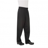 Chef Works Unisex Basic Baggy Chefs Trousers Black 6XL