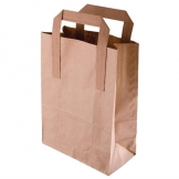 Fiesta Green Recycled Brown Paper Carrier Bags Large (Pack of 250)