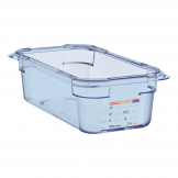 Aravan ABS Food Storage Container Blue GN 1/4 100mm