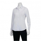 Chef Works Womens Long Sleeve Dress Shirt White S