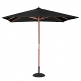 Bolero Square Double Pulley Parasol 2.5m Diameter Black