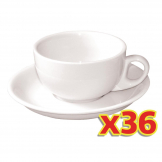 Olympia Cappuccino Cup and Saucer Set 285ml (Pack of 36)
