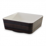 APS+ Melamine Square Bowl Oak and Cream 1.5 Ltr