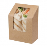 Colpac Zest Compostable Kraft Tuck-Top Wrap Packs With Acetate Window