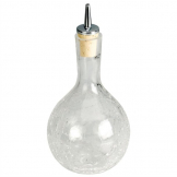 Bitters Dash Bottle Round Crackle Glass 330ml