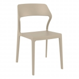 Snow Side Chair - Taupe