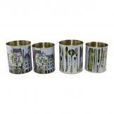 Set of 4 Vintage Style Storage Tins