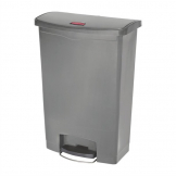 Rubbermaid Slim Jim Step On Front Step Pedal Bin Grey 90Ltr