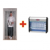 Eazyzap SPECIAL OFFER Chain Door Fly Screen And Fly Killer Combo