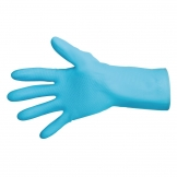MAPA Vital 117 Liquid-Proof Light-Duty Janitorial Gloves Blue Extra Large