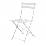 Bolero Grey Pavement Style Steel Folding Chairs (Pack of 2)