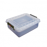 Araven Polypropylene Food Storage Container with Colour Clips 40Ltr