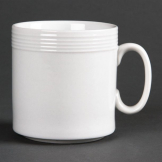 Olympia Linear Mugs 220ml 8oz (Pack of 12)