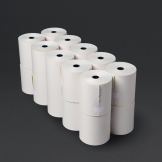 Non-Thermal 2ply White and Yellow Till Roll 76mm x 70mm