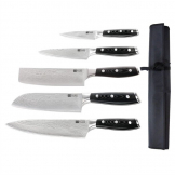 Tsuki 5 Piece Series 7 Knife Set and Wallet