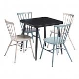 Black Square Cafe & Spin Dining Set