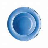 Kristallon HeritageRaised Rim Bowls Blue 205mm (Pack of 4)
