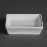 Olympia Flat Square Miniature Dishes 80mm (Pack of 12)