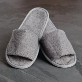 Luxury Curzon Open Toe Slippers Grey (100 Pairs)